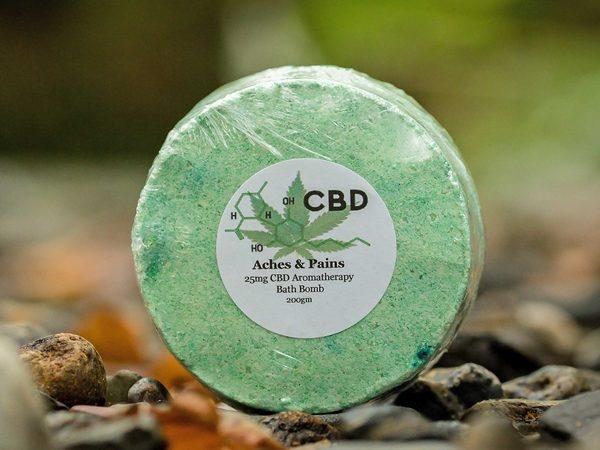 Aches & Pains CBD Bath Bomb from The Natural CBD Shop