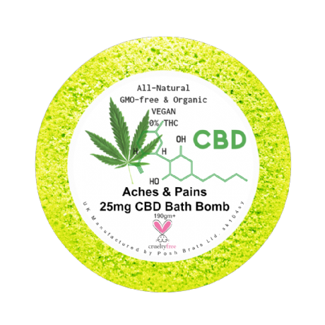 aches and pains CBD aromatherapy bath bomb