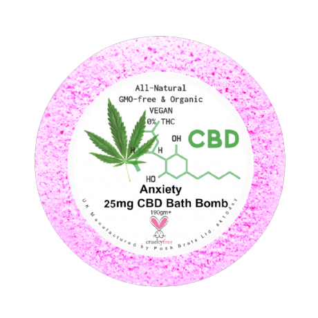 Anxiety CBD aromatherapy bath bomb from The Natural CBD Shop