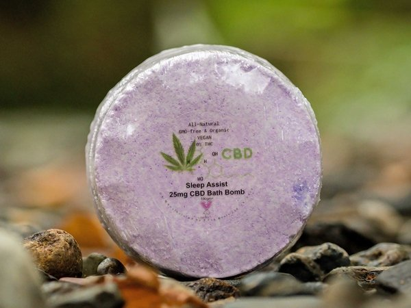 Sleep Assist CBD Bath Bomb from The Natural CBD Shop