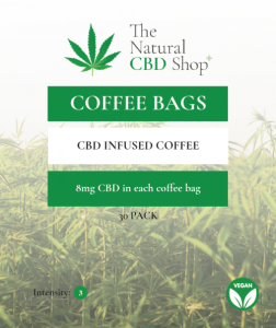 CBD Infused Coffee Bags from The Natural CBD Shop